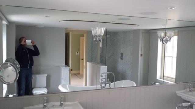 bespoke glass, framless shower