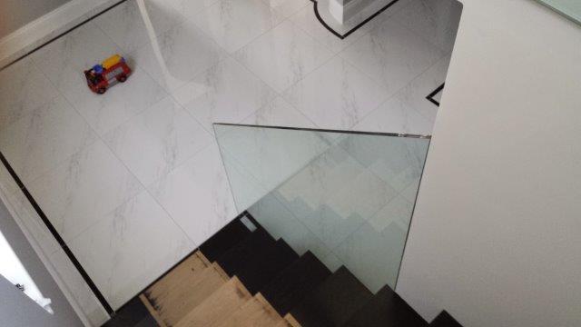 blackheath shower, glass balustrade and mirror