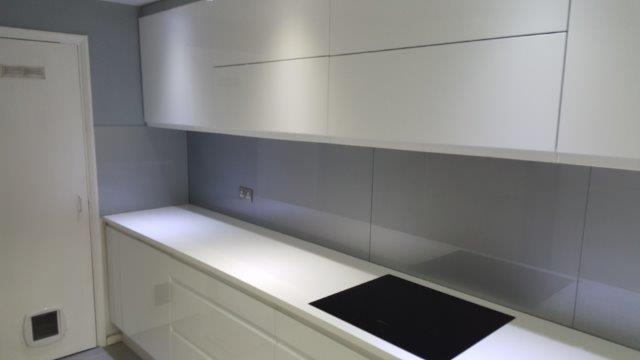 And shower enclosures with sandblasted windows and door glass - Glass Kitchen Splashbacks Bromleyglassandglazing