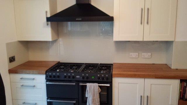 Glass Kitchen Splashback West Wickham