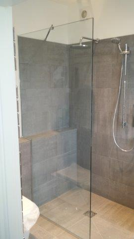bespoke glass, framless shower