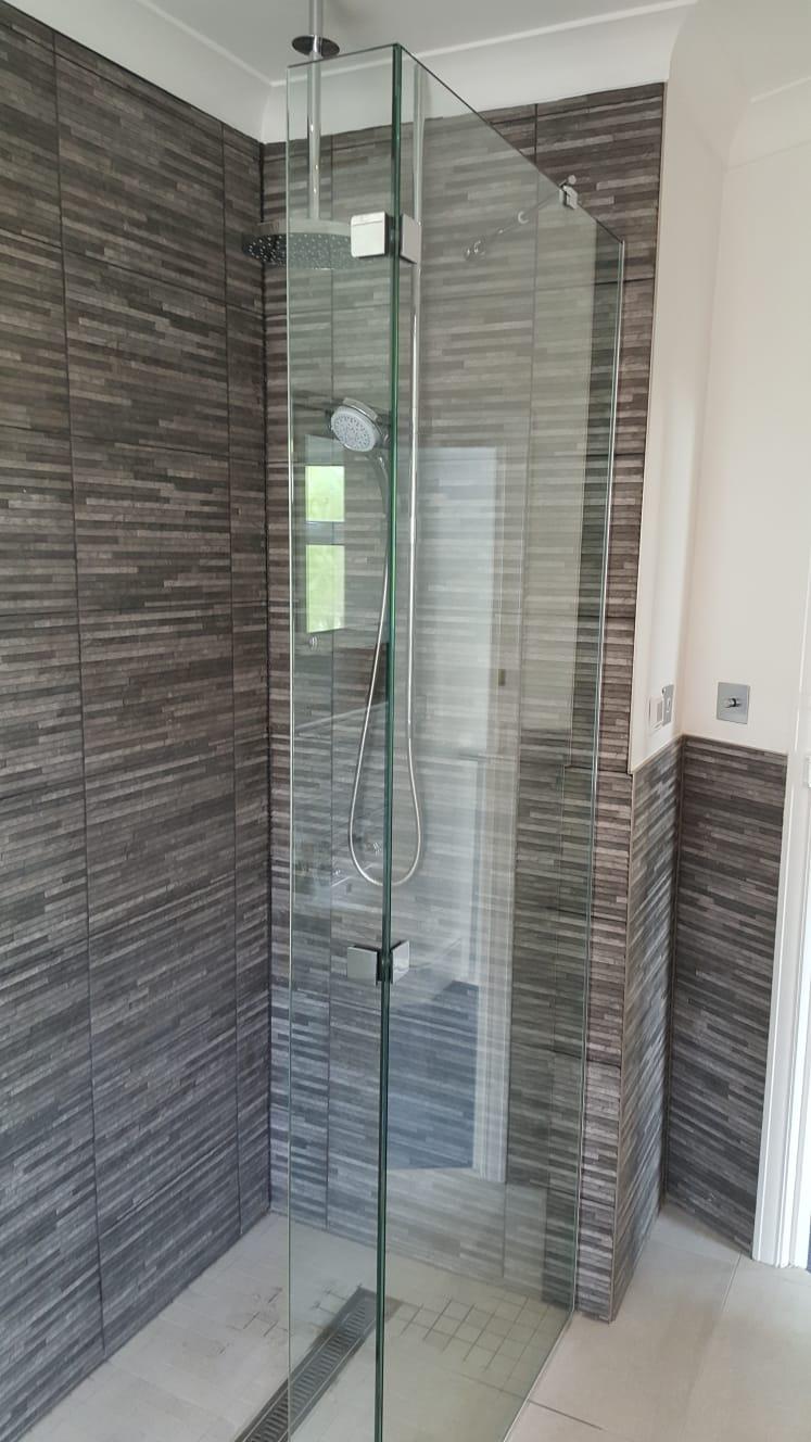 Frameless Glass Shower Enclosure