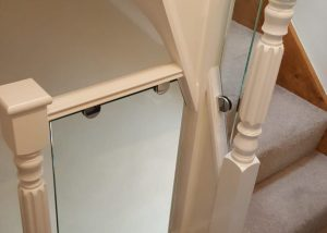 Top of stairs Glass Balustrade