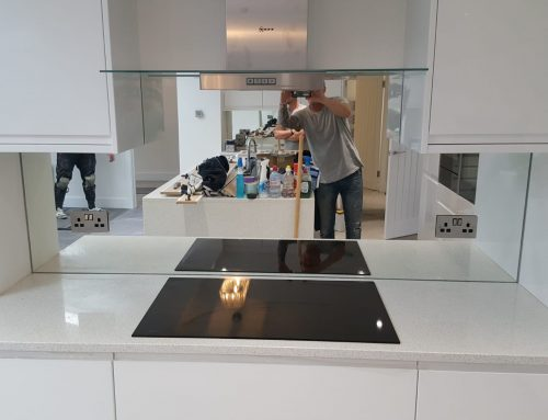 Glass Mirror Kitchen Splashback