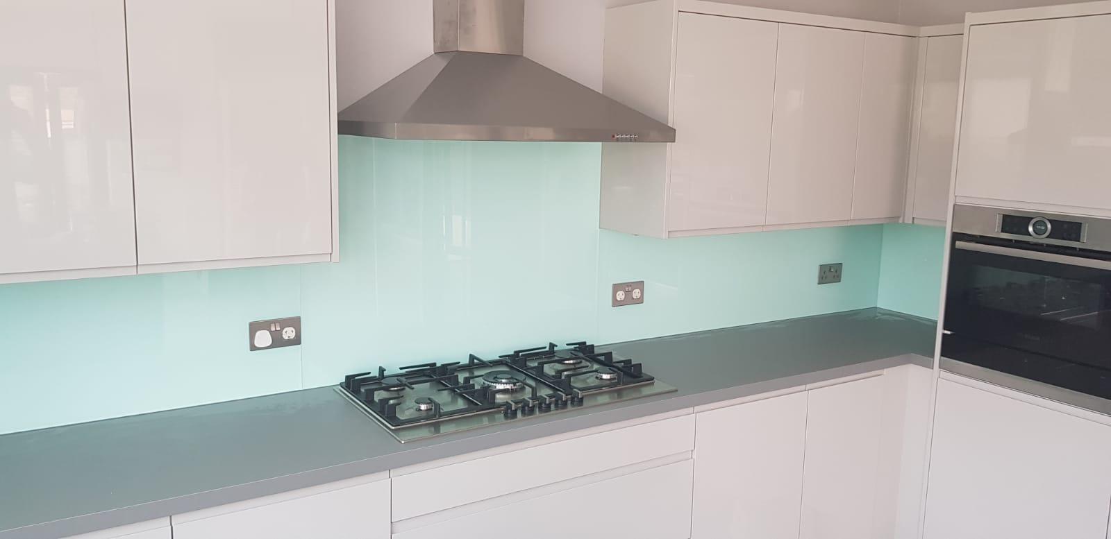 Green Glass Kitchen Splashback